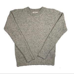Heather Gray Madewell XS Cashmere Pullover Sweater